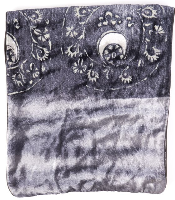 GIORGIO ARMANI Gray Abstract Textured Scarf