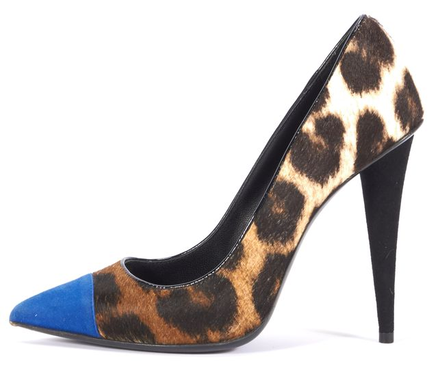 GIUSEPPE ZANOTTI Brown Animal Print Heels