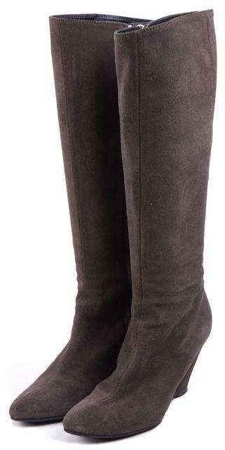 GIUSEPPE ZANOTTI Brown Suede Knee-high Boots