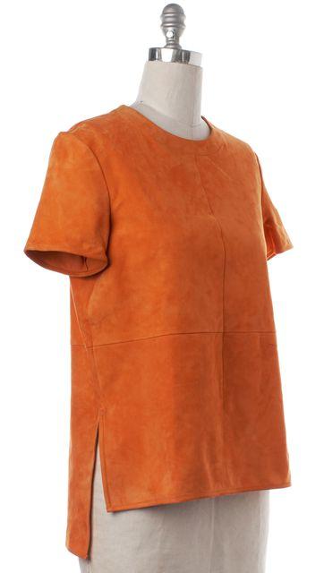 GIVENCHY Orange Suede Top