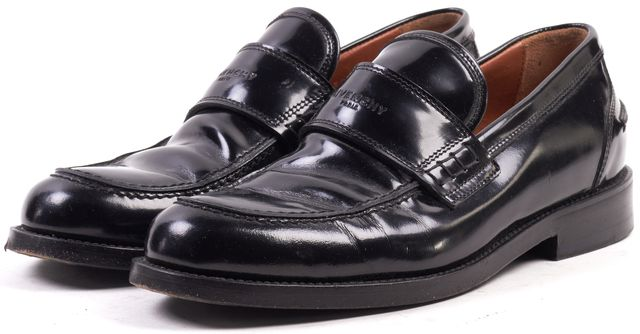 GIVENCHY Black Leather Loafers