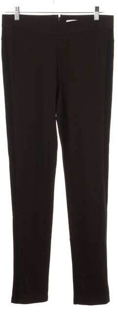 GIVENCHY Brown Black Zip Bottom Trousers Pants