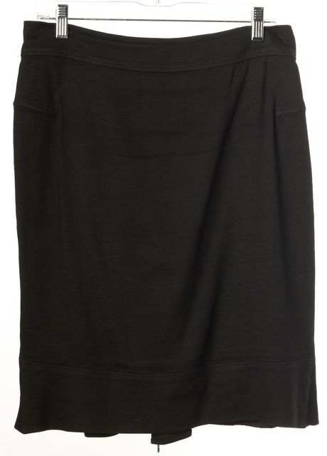 GIVENCHY Black Ruffled Back Above Knee Straight Skirt