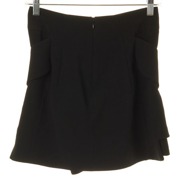GIVENCHY Black High Waisted Tiered Summer Casual Shorts