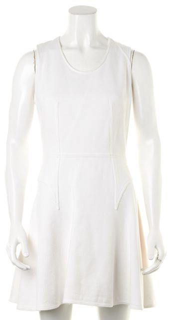 GIVENCHY White Cotton Sleeveless Fit & Flare Dress