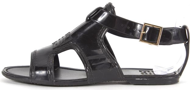 GIVENCHY Black Jelly Gladiator Sandals