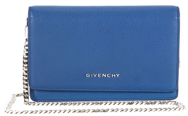 GIVENCHY Blue Leather Pandora Wallet On Chain Crossbody