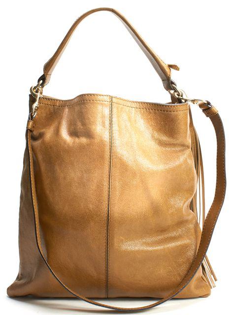 GIVENCHY Brown Leather Ombre Tassel Messenger Shoulder Bag
