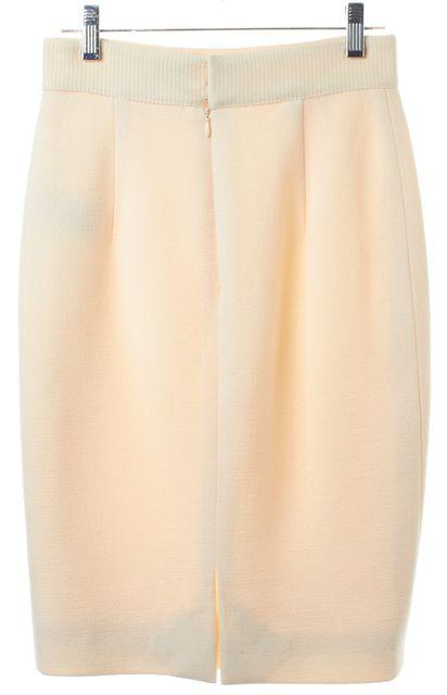 GIAMBATTISTA VALLI Ivory Wool Knit Pencil Skirt