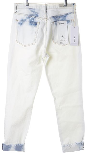 GRLFRND White Acid Washed Karolina Skinny High Waist Jeans
