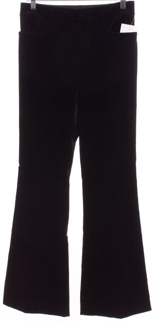 GUCCI Black Cotton Velvet Flared Leg Dress Pants Fits Like