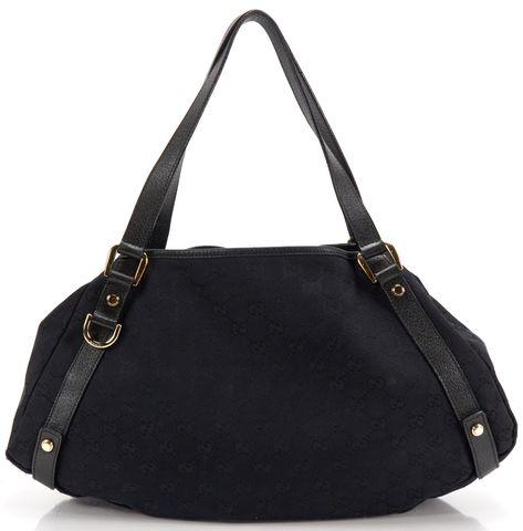 GUCCI Black GG Guccissima Print Canvas Abbey Shoulder Handbag