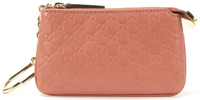 GUCCI Blush Pink Microguccissima Coin Purse Keychain Wallet