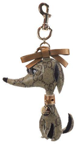 GUCCI Brown GG Canvas Dorothy Guccioli Keyring Bag Charm w/ Box