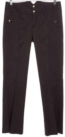 GUCCI Brown Stripe Cotton Trouser Pants