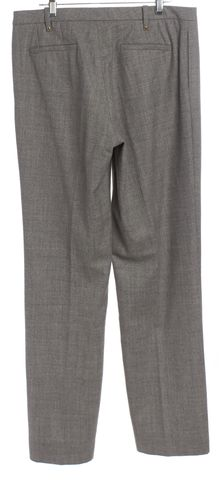 GUCCI Gray Pleated Flared Leg High Waist Dress Pants