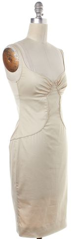 GUCCI Ivory Cutout Scoop Neck Sleeveless Sheath Dress