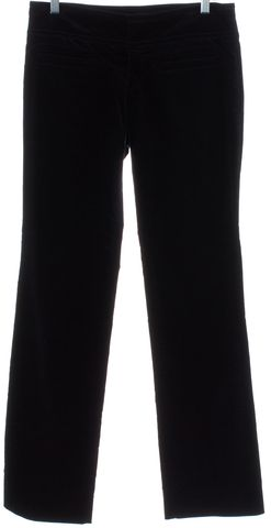 GUCCI Navy Blue Velvet Straight Leg Gold Buckle Pants