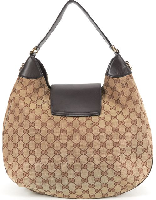 GUCCI Brown GG Canvas Emily Original Chain Hobo Bag