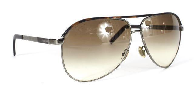 GUCCI Brown Wire Frame Gradient Lens Aviator Sunglasses