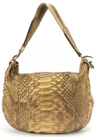 GUCCI Gold Python Large Hobo Bag