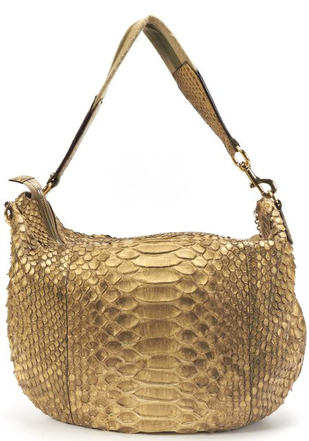 GUCCI Gold Python Large Hobo Bag