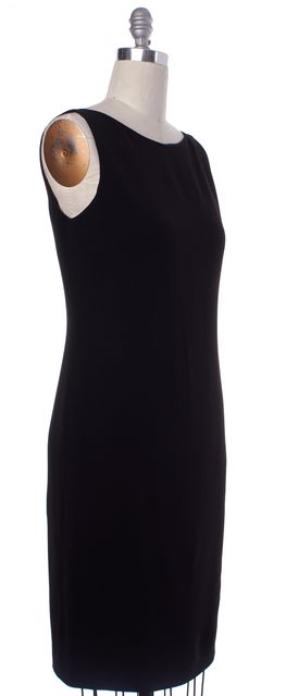 GUCCI Black Sleeveless Boat Neck Shift Dress