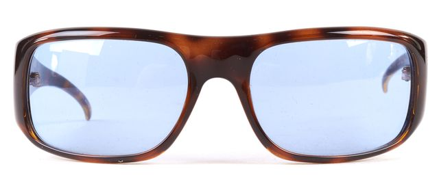 GUCCI Brown Blue Tortoise Acetate Frame Sunglasses