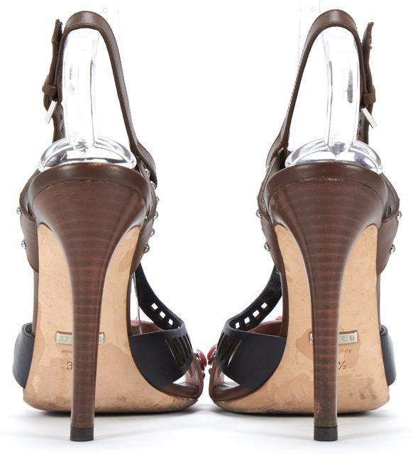 GUCCI Pink Black Multicolor Stone Embellished Heels