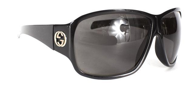 GUCCI Black GG Logo Square Frame Sunglasses