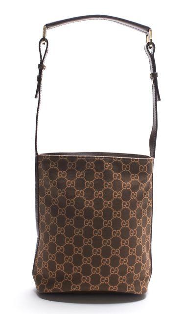 GUCCI Brown GG Monogram Canvas Shoulder bag