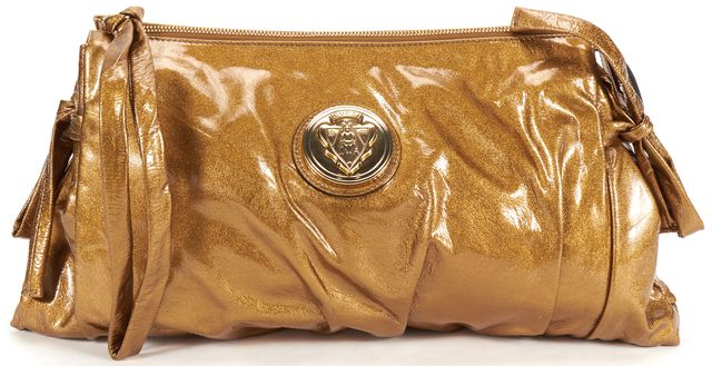 GUCCI Authentic Gold Patent Leather Clutch Wristlet