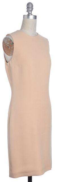 GUCCI Beige Silk Cut Out Sleeveless Sheath Dress