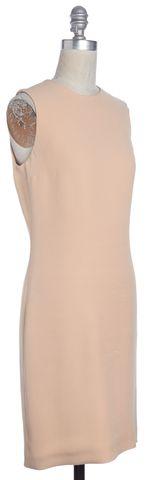 GUCCI Beige Silk Cut Out Sleeveless Sheath Dress