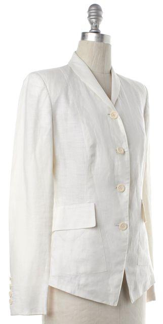 GUCCI White Linen Blazer Jacket