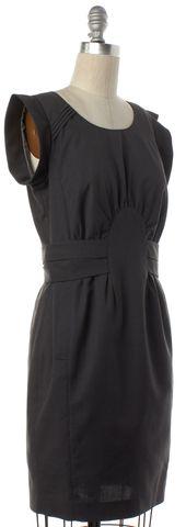GUCCI Gray Pleated Gathered Short Sleeve Sheath Dress