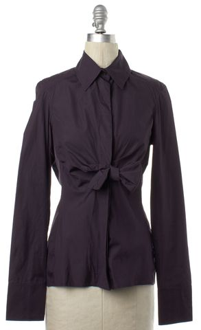 GUCCI Purple Bow Button Down Shirt