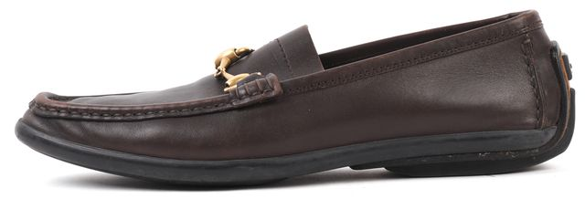 GUCCI Brown Leather Horsebit Loafer