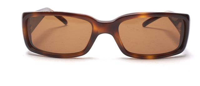 GUCCI Brown Tortoise Shell Acetate Frame Rectangular Sunglasses