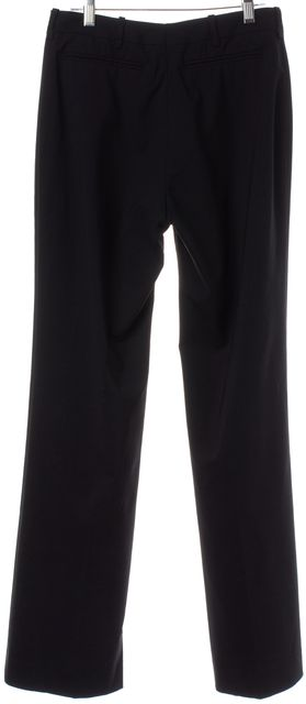 GUCCI Black Wide Leg Pleated Dress Pants