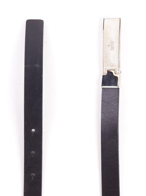 GUCCI Black Skinny Leather Belt