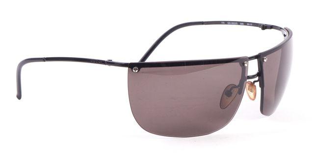 GUCCI Black Gray Rimless Rectangular Sunglasses