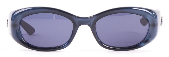 GUCCI Blue Acetate Frame Rectangular Sunglasses