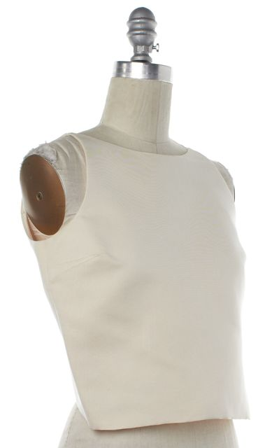 GUCCI Ivory Silk Open Back Top Fits Like a 8