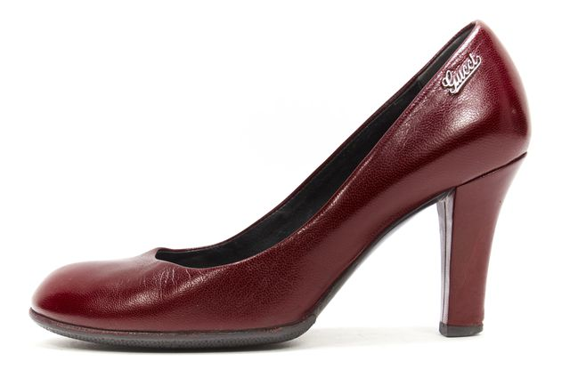GUCCI Burgundy Red Leather Pump
