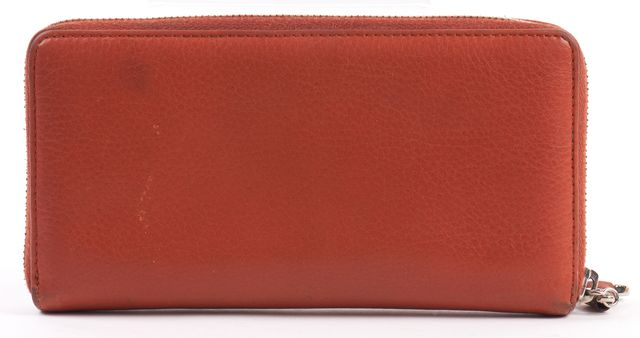 GUCCI Orange Leather Continental Wallet