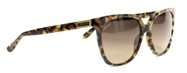 GUCCI Brown Beige Tortoise Shell Frame Gradient Sunglasses