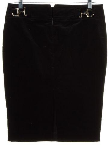 GUCCI Black Velvet Horsebit Pencil Skirt