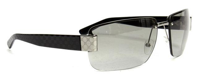 GUCCI Black GG Rectangular Sunglasses w/ Case