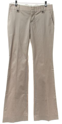 GUCCI Beige Khaki Stretch Cotton Sateen Dress Pants